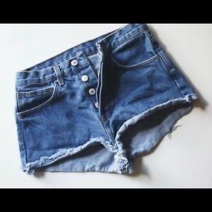 Brandy Melville John Galt High Rise Cut Off Shorts